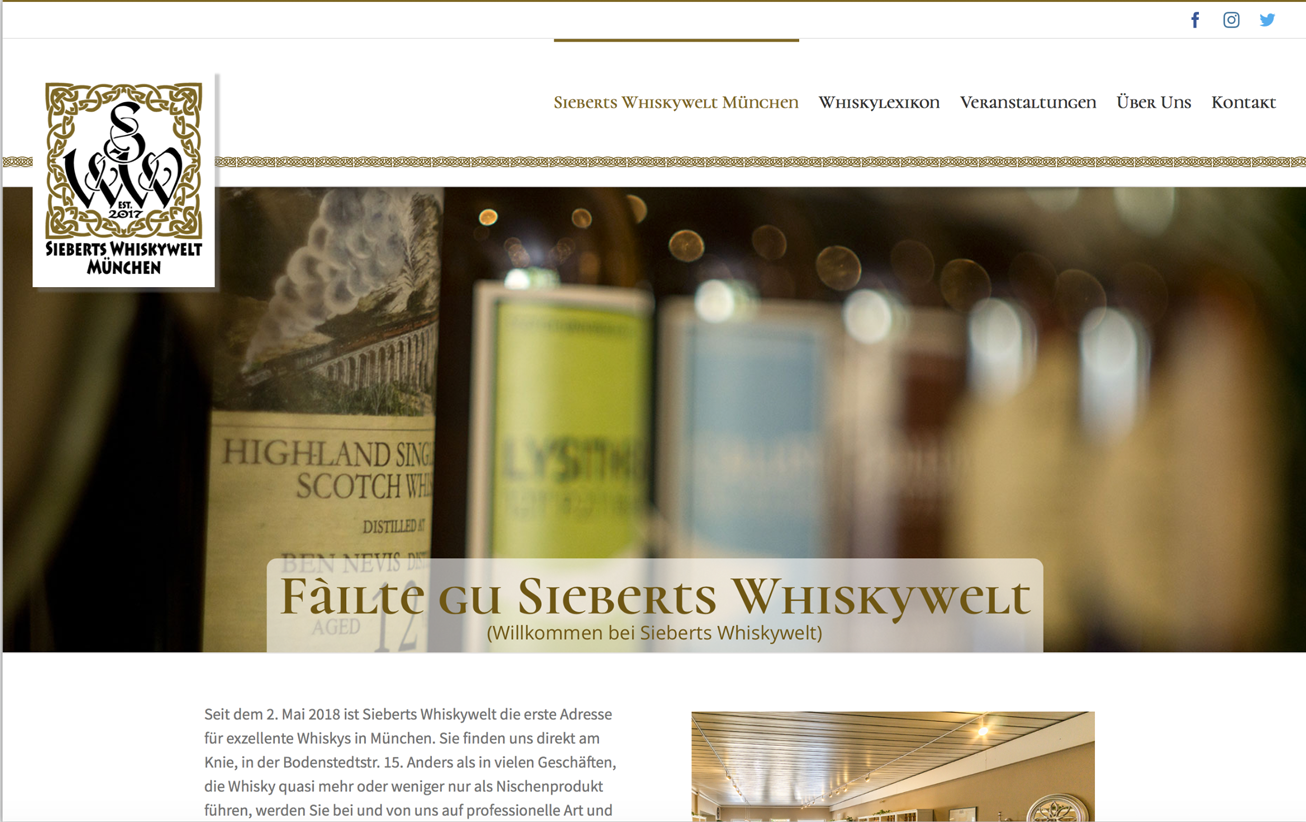 Sieberts Whiskywelt Gestaltet Von Cyberdog Designs Desktop Version