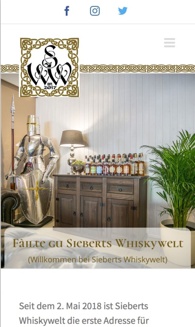 Sieberts Whiskywelt Gestaltet Von Cyberdog Designs Mobile Version