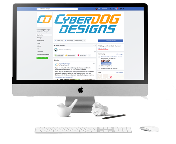 Social Media Design By Cyberdog Designs