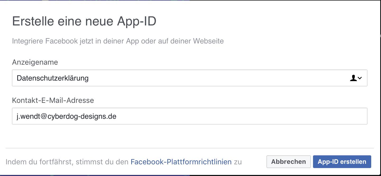 Datenschutzerklärung bei Facebook einstellen • Cyberdog Designs